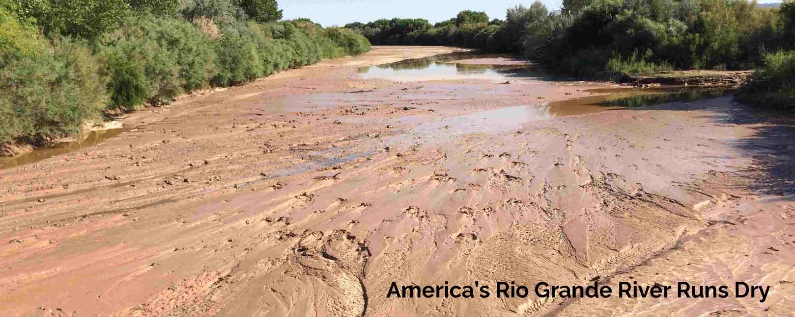 Rio Grande river runs dry