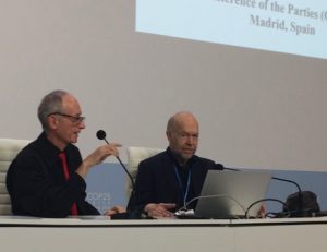 James Hansen and Stuart Scott at COP-25