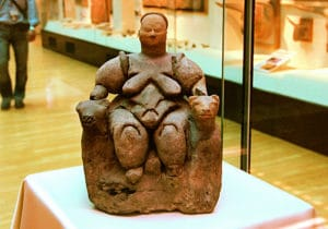 Woman of Catalhoyuk (about 5500-6000 BC), today in the Museum of Anatolian Civilizations in Ankara