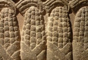 Ancient mesoamerican carving of maize