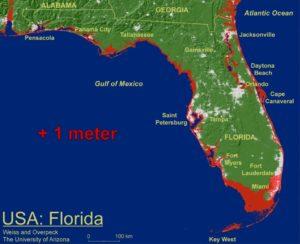 Florida - 1 meter Sea-level Rise